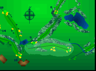 Jack Nicklaus Cyber Golf atari screenshot